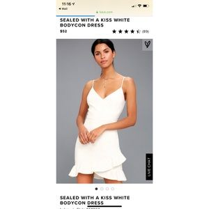 Lulu's Sealed With a Kiss White Bodycon Dress Sm